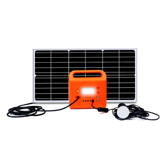 Mini Portable Off Grid Mobile Camping 10W 12V Solar Electricity Generating Panel Power System With Radio Mp3 For Small Homes